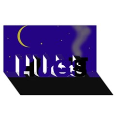 Cat on the roof  HUGS 3D Greeting Card (8x4)