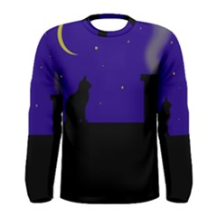 Cat on the roof  Men s Long Sleeve Tee