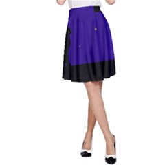 Cat on the roof  A-Line Skirt