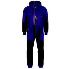 Cat on the roof  Hooded Jumpsuit (Men)