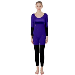 Cat on the roof  Long Sleeve Catsuit