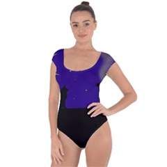 Cat on the roof  Short Sleeve Leotard