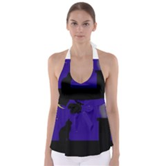 Cat on the roof  Babydoll Tankini Top