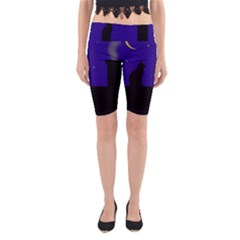 Cat On The Roof  Yoga Cropped Leggings