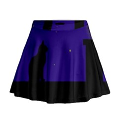 Cat on the roof  Mini Flare Skirt