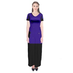 Cat on the roof  Short Sleeve Maxi Dress