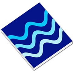 Blue waves  Small Memo Pads