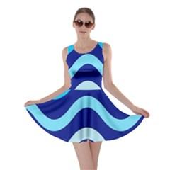 Blue waves  Skater Dress