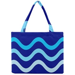 Blue waves  Mini Tote Bag