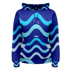 Blue waves  Women s Pullover Hoodie