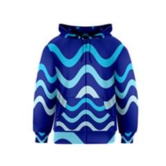 Blue waves  Kids  Zipper Hoodie