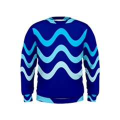 Blue waves  Kids  Sweatshirt