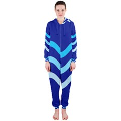 Blue waves  Hooded Jumpsuit (Ladies)