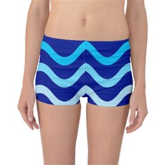 Blue waves  Boyleg Bikini Bottoms
