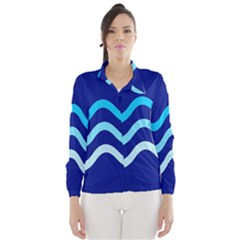 Blue Waves  Wind Breaker (women)