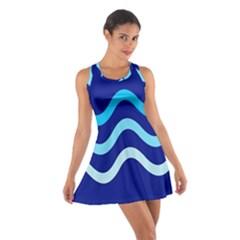 Blue waves  Racerback Dresses