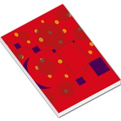 Red abstract sky Large Memo Pads