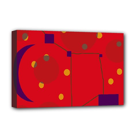 Red abstract sky Deluxe Canvas 18  x 12