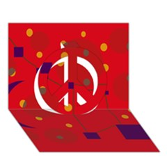 Red abstract sky Peace Sign 3D Greeting Card (7x5)