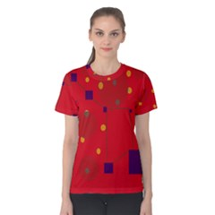 Red abstract sky Women s Cotton Tee