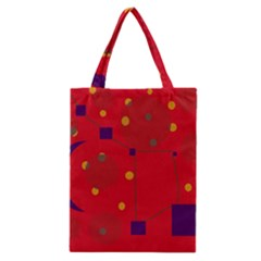 Red abstract sky Classic Tote Bag