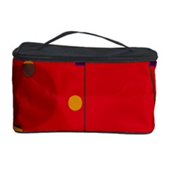 Red abstract sky Cosmetic Storage Case