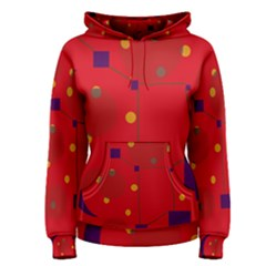 Red abstract sky Women s Pullover Hoodie