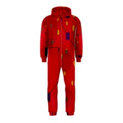 Red abstract sky Hooded Jumpsuit (Kids)