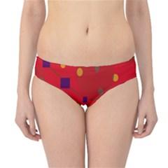 Red abstract sky Hipster Bikini Bottoms