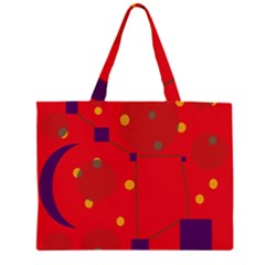 Red abstract sky Large Tote Bag