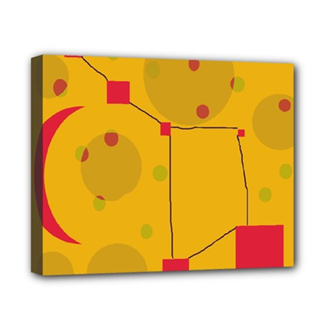 Yellow abstract sky Canvas 10  x 8