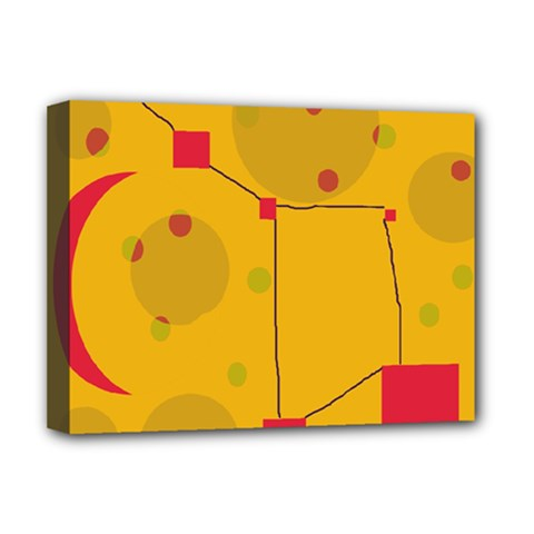 Yellow abstract sky Deluxe Canvas 16  x 12