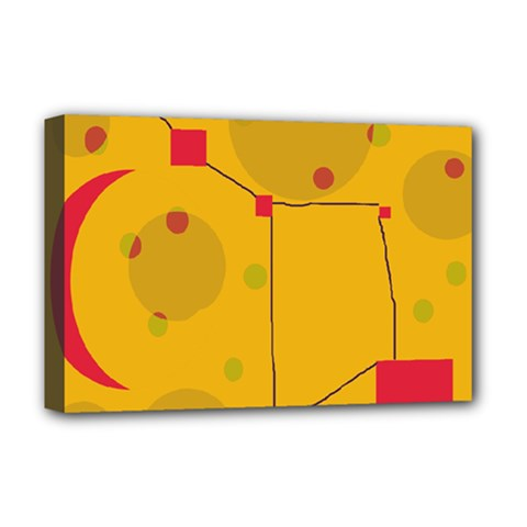 Yellow abstract sky Deluxe Canvas 18  x 12