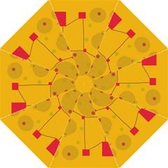 Yellow abstract sky Golf Umbrellas