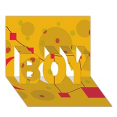 Yellow abstract sky BOY 3D Greeting Card (7x5)
