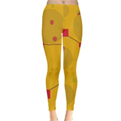 Yellow abstract sky Leggings