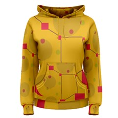 Yellow abstract sky Women s Pullover Hoodie