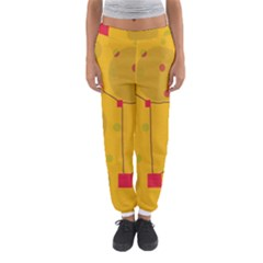 Yellow Abstract Sky Women s Jogger Sweatpants