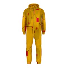 Yellow abstract sky Hooded Jumpsuit (Kids)