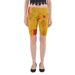 Yellow abstract sky Yoga Cropped Leggings