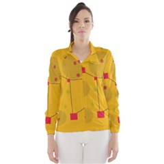 Yellow abstract sky Wind Breaker (Women)