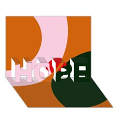 Decorative abstraction  HOPE 3D Greeting Card (7x5)