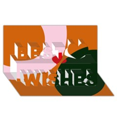 Decorative Abstraction  Best Wish 3d Greeting Card (8x4)