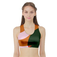 Decorative abstraction  Sports Bra with Border