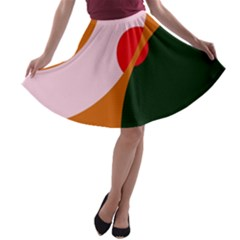 Decorative abstraction  A-line Skater Skirt