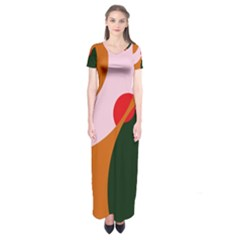 Decorative abstraction  Short Sleeve Maxi Dress