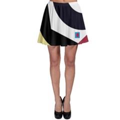 Digital abstraction Skater Skirt