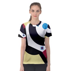 Digital abstraction Women s Sport Mesh Tee