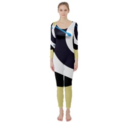 Digital Abstraction Long Sleeve Catsuit