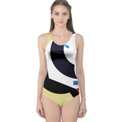 Digital abstraction One Piece Swimsuit